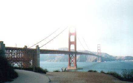 Golden  Gate Bridge from South-East (Foggy)